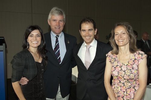 Angela Pippos, Paul Sheahan, Justin Langer and Clare Cannon